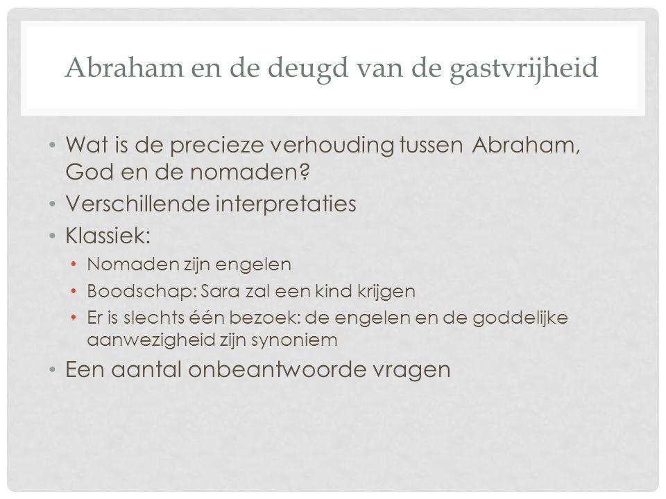 Abraham en de deugd van de gastvrijheid Wat is de precieze verhouding tussen Abraham, God en de nomaden.