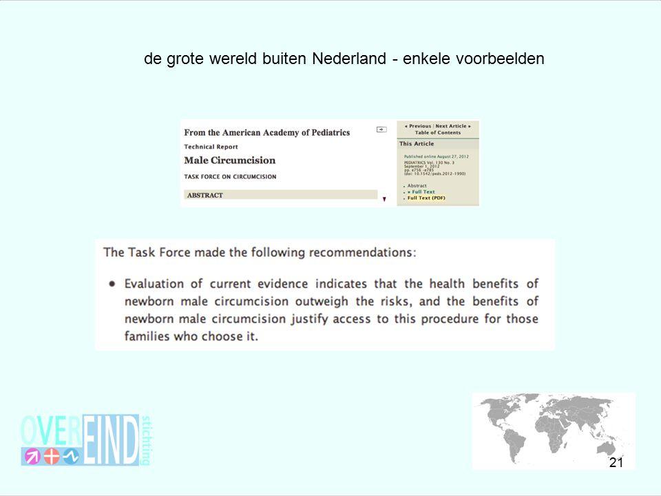de grote wereld buiten Nederland - enkele voorbeelden 21