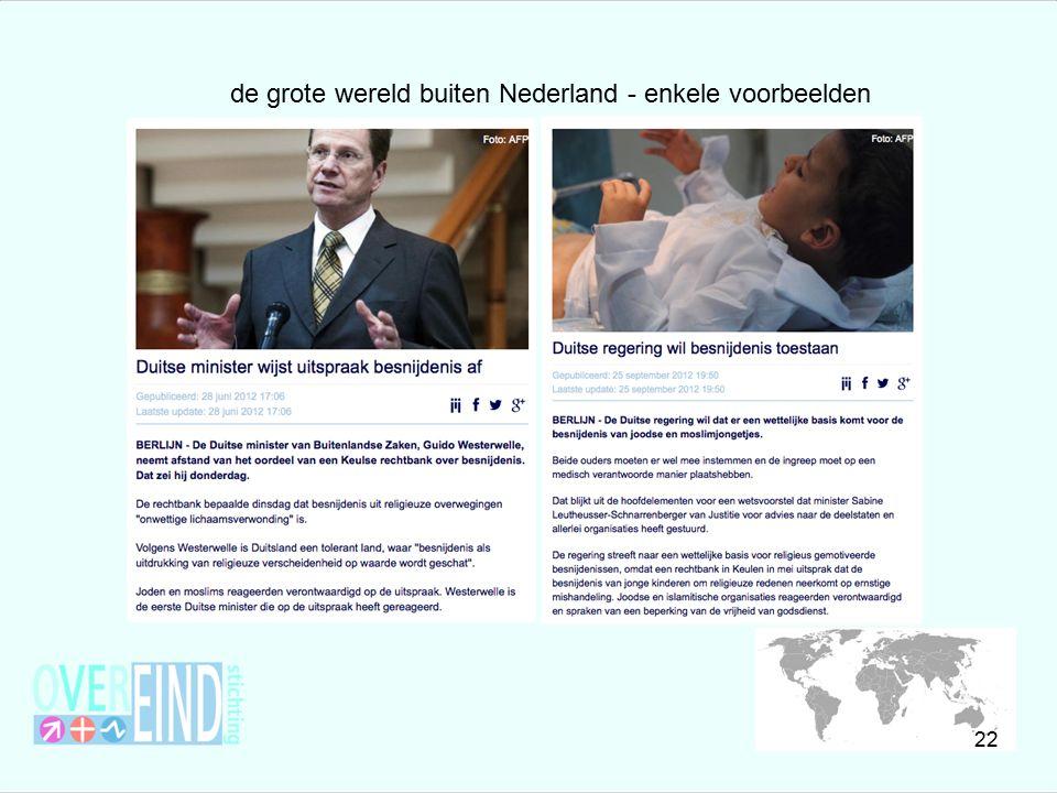 de grote wereld buiten Nederland - enkele voorbeelden 22