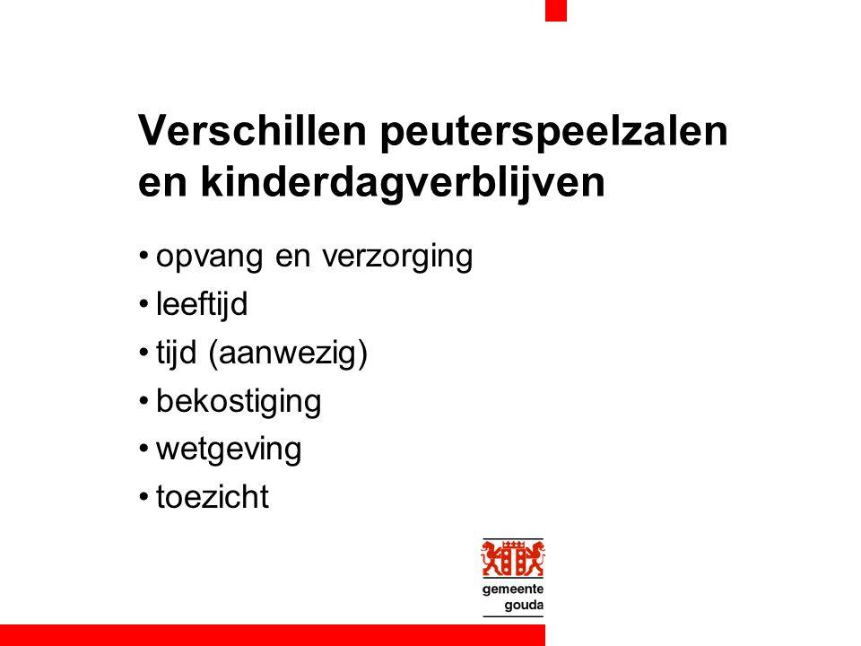 Huidige situatie (vervolg) subsidie peuterspeelzalen ontoereikend voor: adequate scholing voldoende formatie voor signaleren / deskundigheidsbevordering / kindbesprekingen