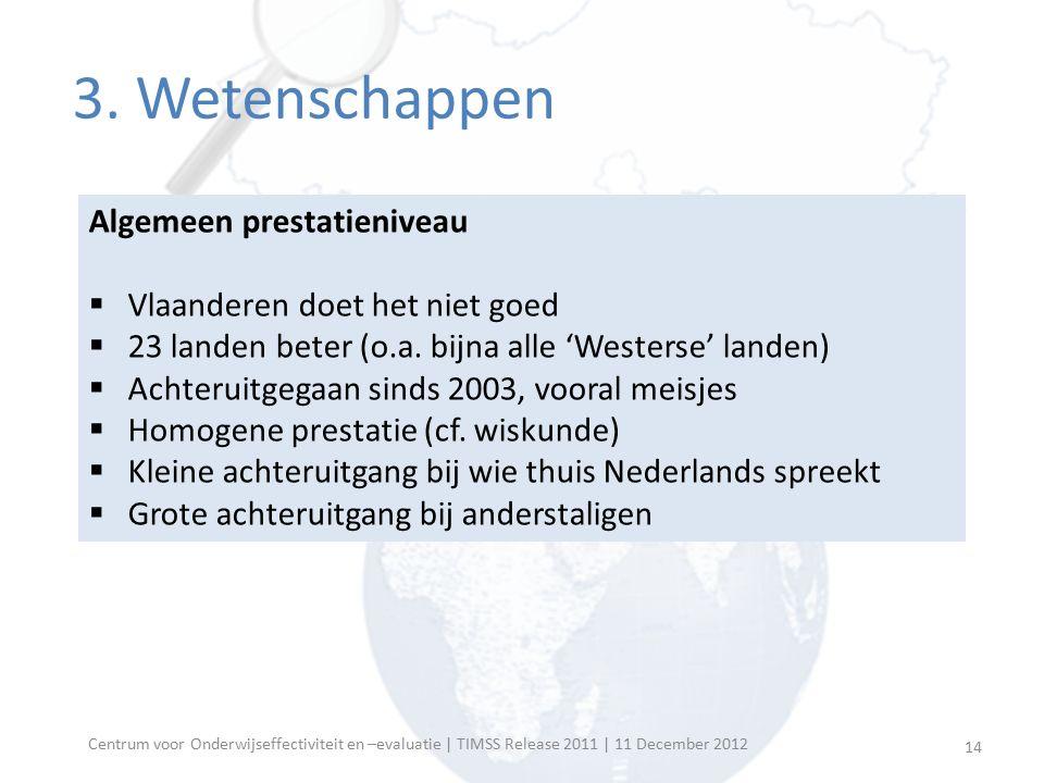 Centrum voor Onderwijseffectiviteit en –evaluatie | TIMSS Release 2011 | 11 December 2012 Algemeen prestatieniveau  Vlaanderen doet het niet goed  2