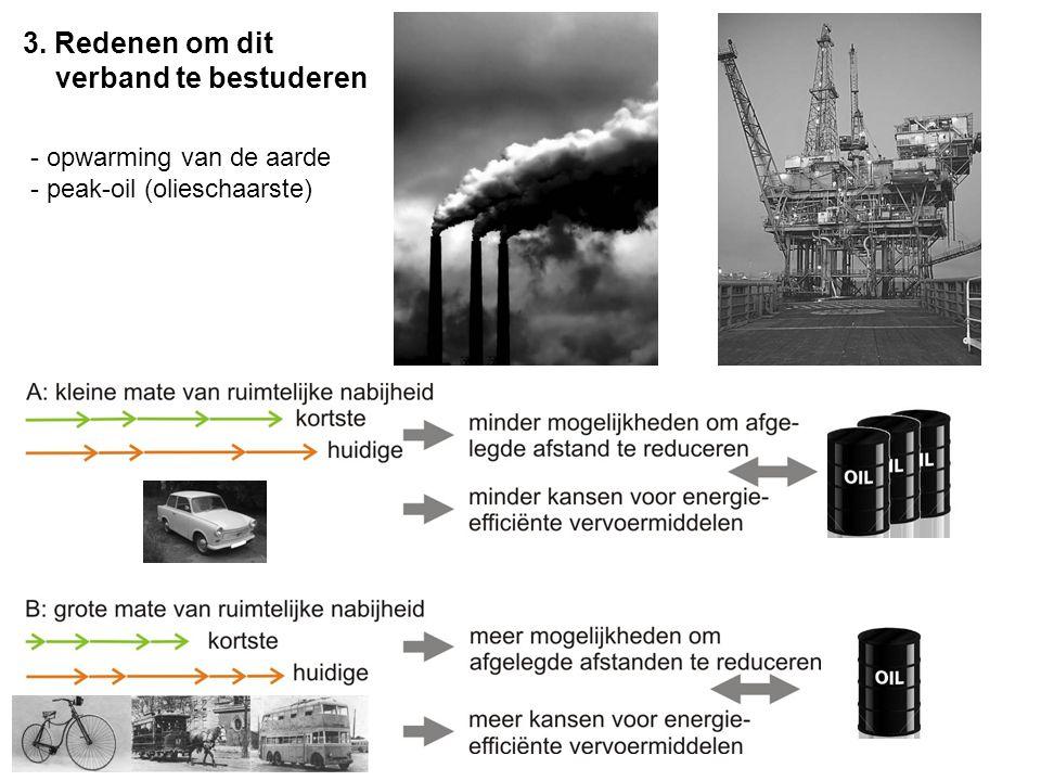 Kobe Boussauw – 17/02/2012 – ARP 3. Redenen om dit verband te bestuderen - opwarming van de aarde - peak-oil (olieschaarste)