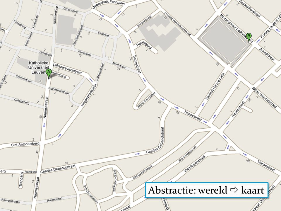 Abstractie: wereld  kaart
