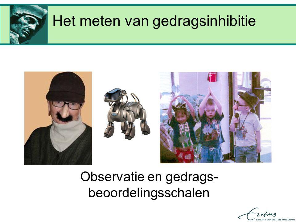 Het meten van gedragsinhibitie Observatie en gedrags- beoordelingsschalen