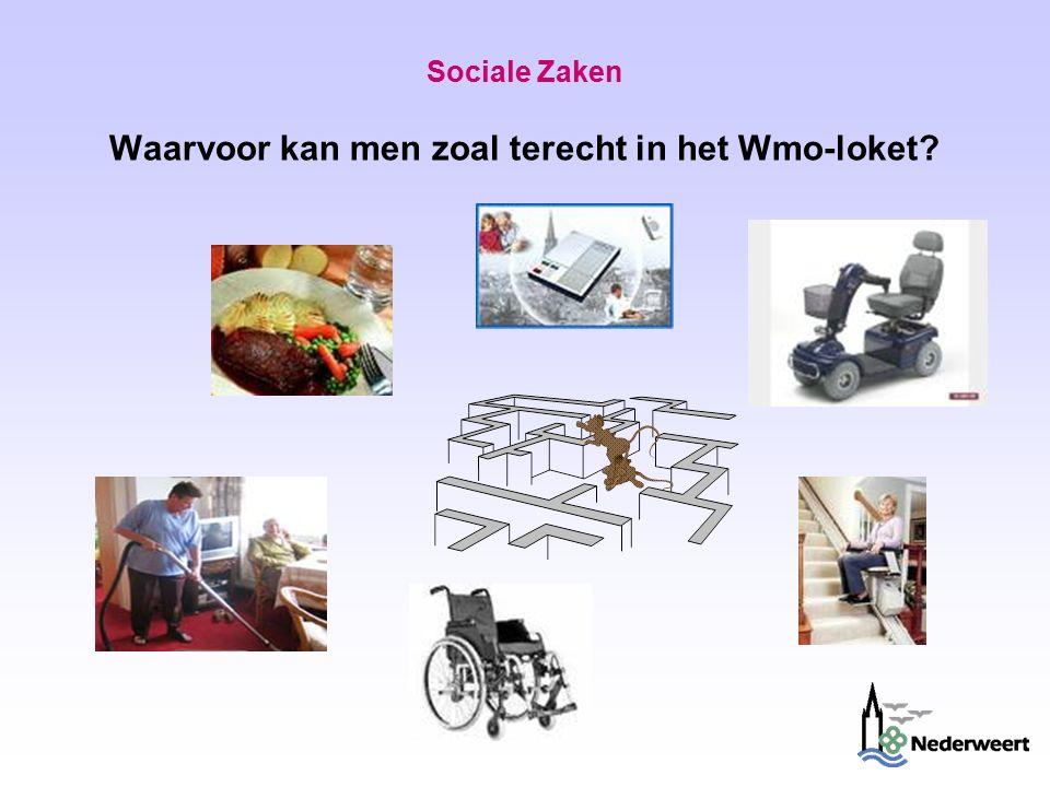 Sociale Zaken Waarvoor kan men zoal terecht in het Wmo-loket