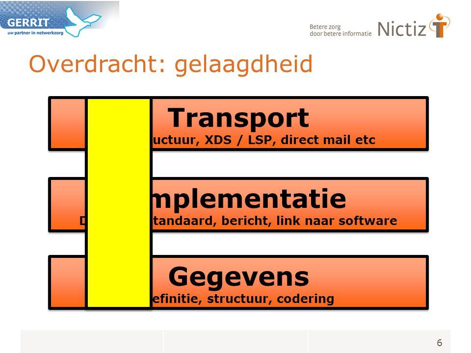 Welke technische standaard .Consensus adviesgroep : CDA R2 is leidend, met ruimte voor extensies.