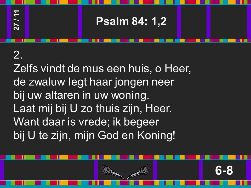 Psalm 84: 1,2 6-8 27 / 11 2.