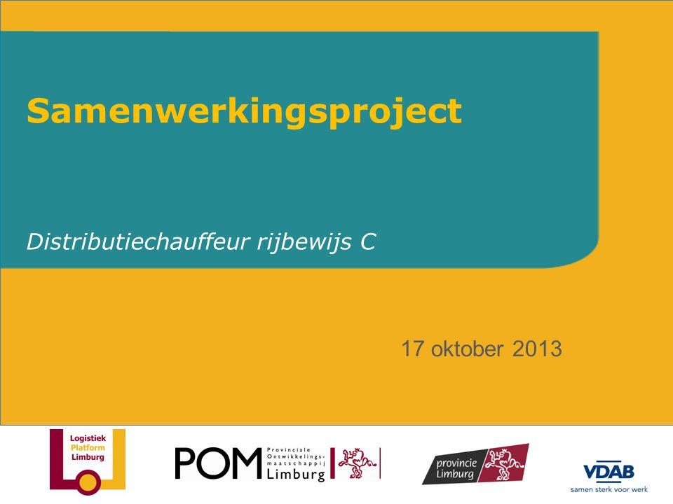 Distributiechauffeur rijbewijs C Samenwerkingsproject 17 oktober 2013