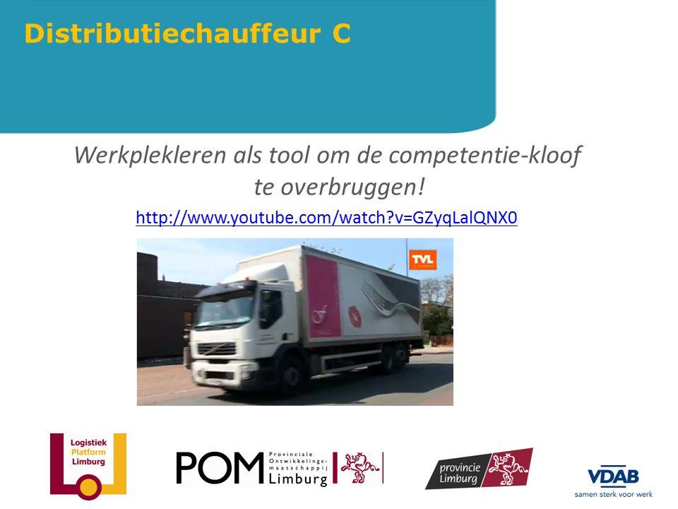 Werkplekleren als tool om de competentie-kloof te overbruggen! http://www.youtube.com/watch?v=GZyqLalQNX0 Distributiechauffeur C