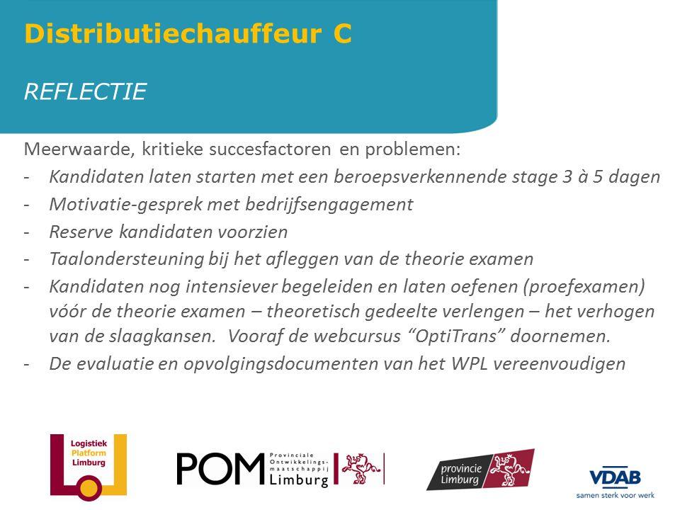 AANBESTEDING WPL IN SPEC.VOERTUIGEN Distributiechauffeur C VDAB-Limburg heeft een aanbesteding gedaan waarop 15 bedrijven intekende.