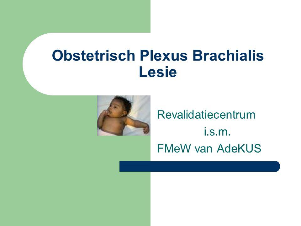Obstetrisch Plexus Brachialis Lesie Revalidatiecentrum i.s.m. FMeW van AdeKUS