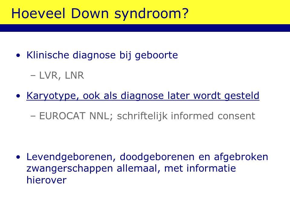 Hoeveel Down syndroom.