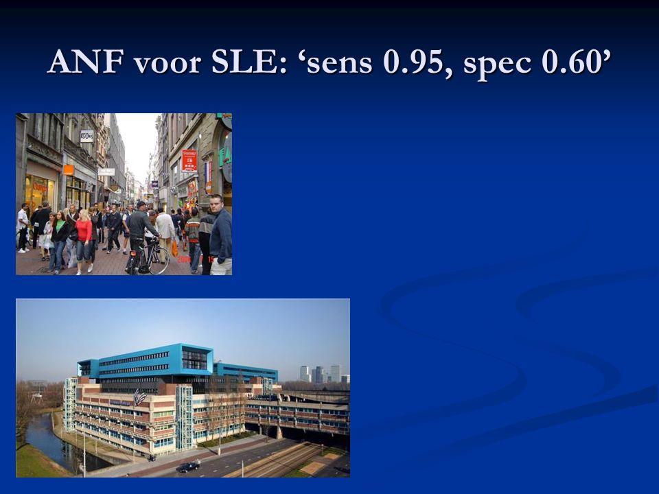 ANF voor SLE: 'sens 0.95, spec 0.60'