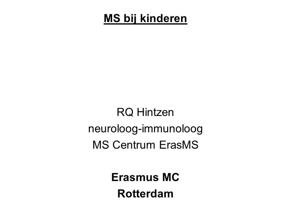 MS bij kinderen RQ Hintzen neuroloog-immunoloog MS Centrum ErasMS Erasmus MC Rotterdam