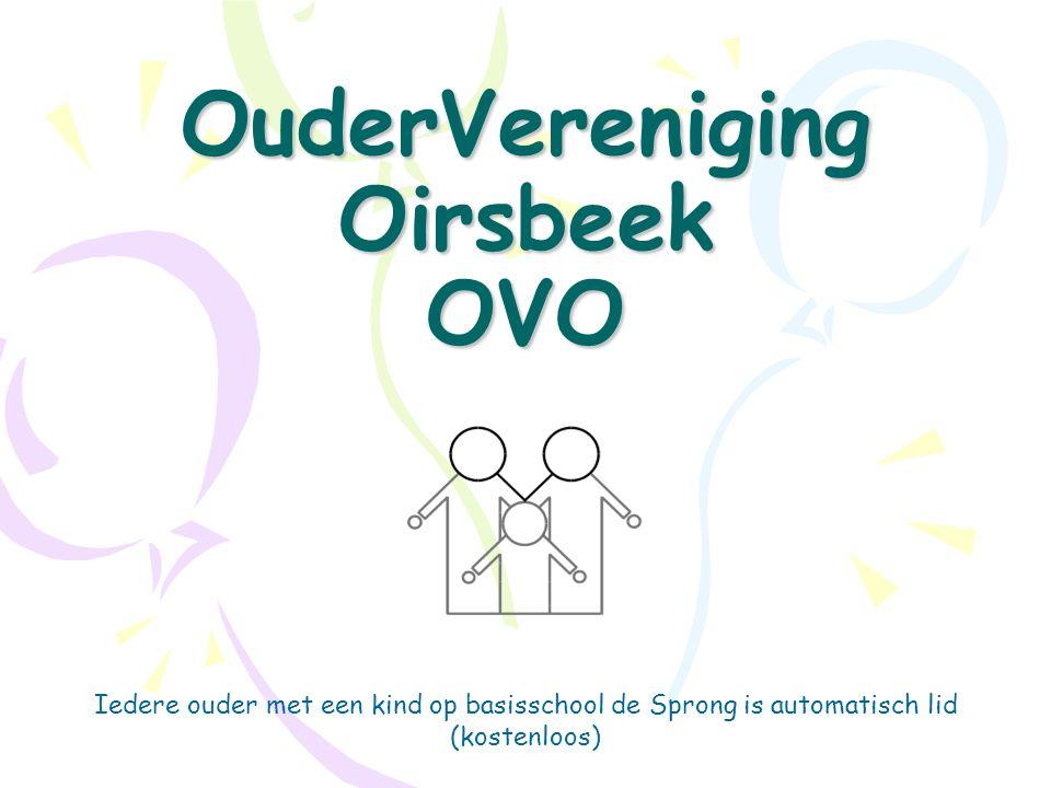 OuderVereniging Oirsbeek OVO Iedere ouder met een kind op basisschool de Sprong is automatisch lid (kostenloos)