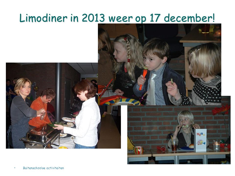 Limodiner in 2013 weer op 17 december!