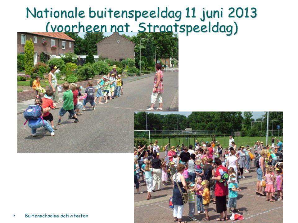 Nationale buitenspeeldag 11 juni 2013 (voorheen nat. Straatspeeldag) Buitenschoolse activiteiten