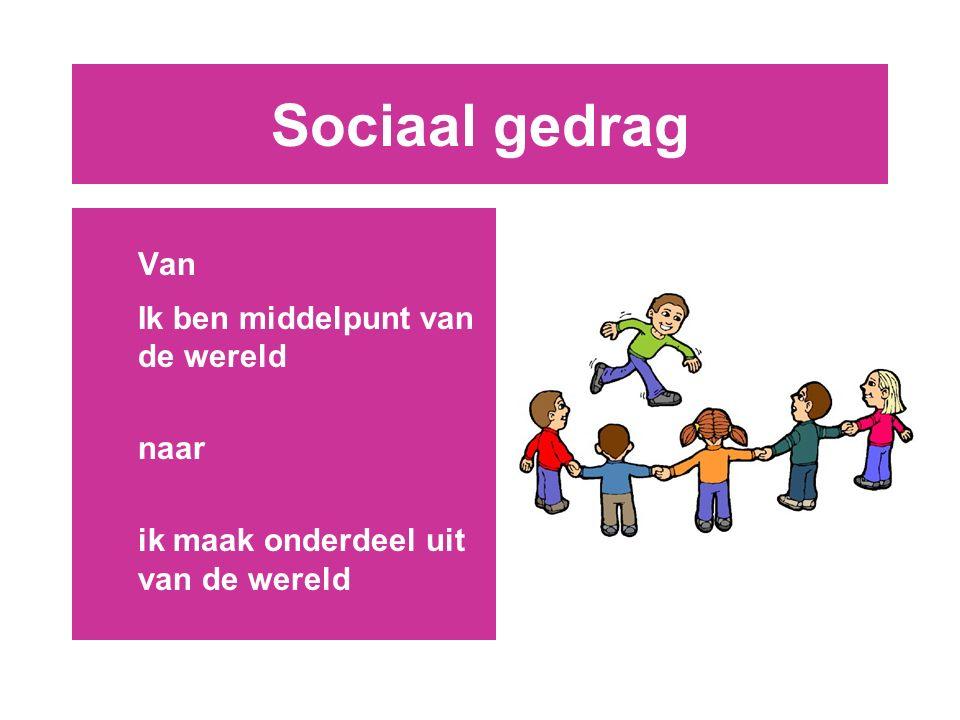 Sociaal gedrag Van Ik ben middelpunt van de wereld naar ik maak onderdeel uit van de wereld