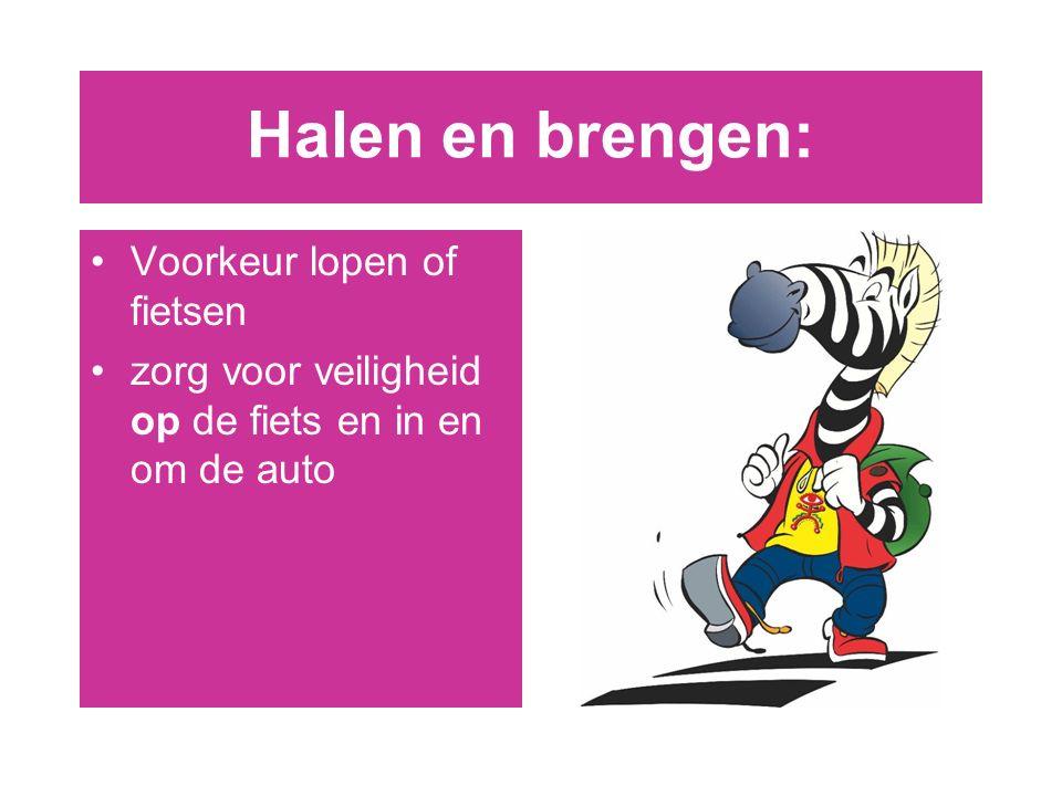 Halen en brengen: Voorkeur lopen of fietsen zorg voor veiligheid op de fiets en in en om de auto