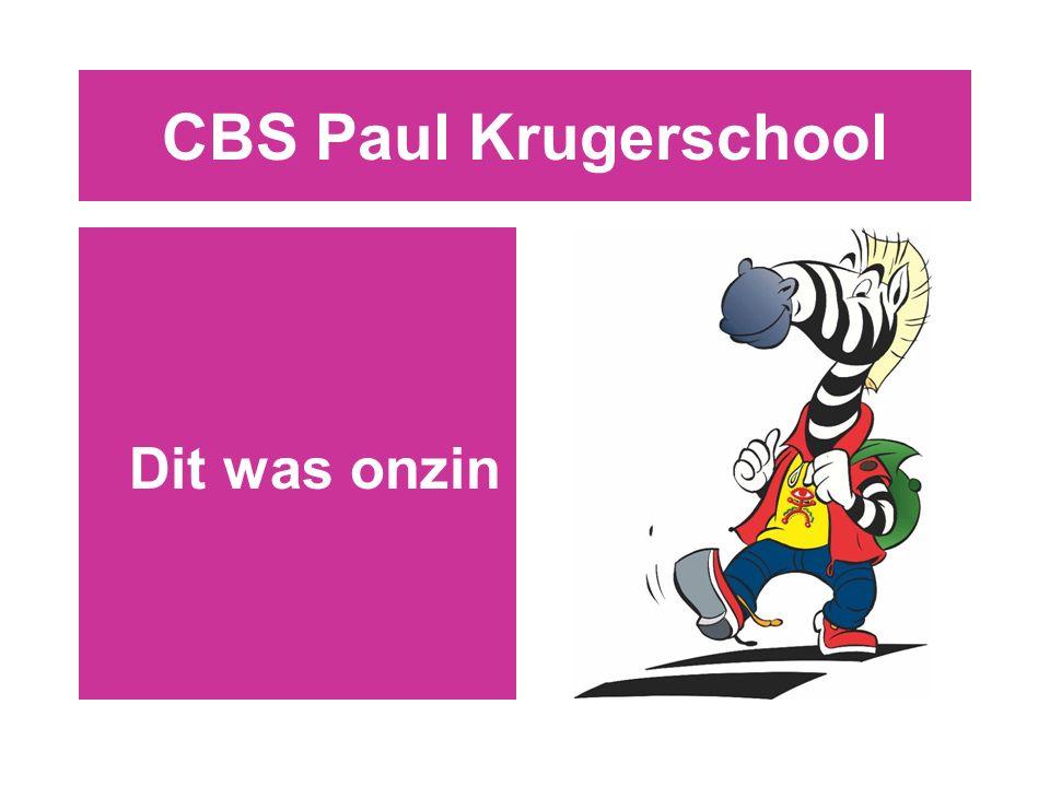 CBS Paul Krugerschool Dit was onzin