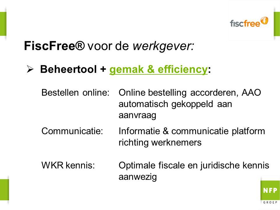 FiscFree® voor de werkgever: WKR kennis: Communicatie:Informatie & communicatie platform richting werknemers Online bestelling accorderen, AAO automat