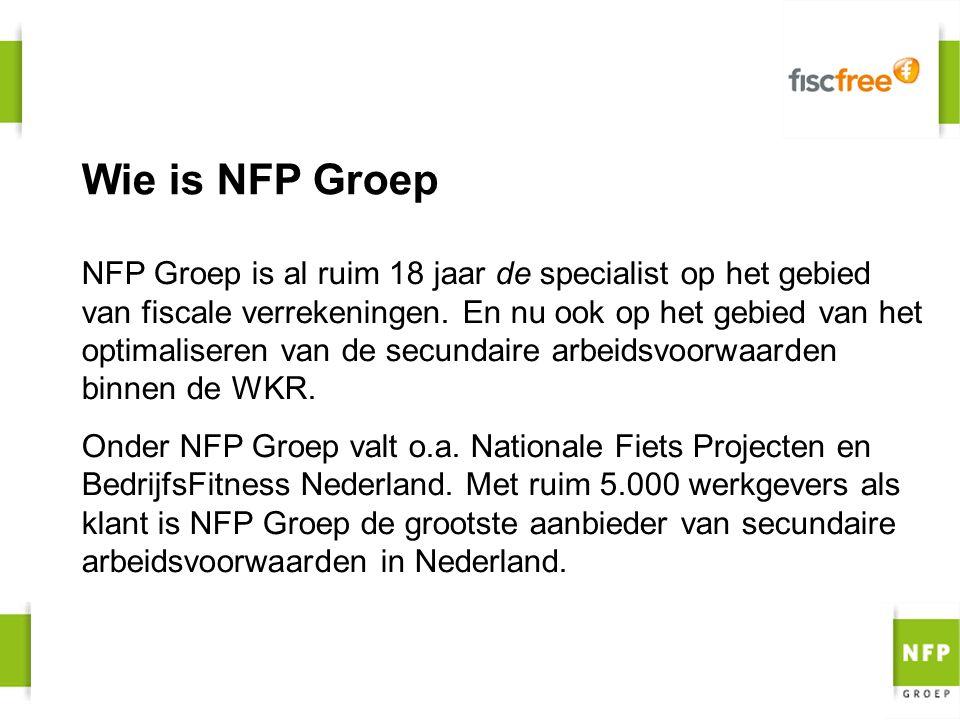 Wie is NFP Groep NFP Groep is al ruim 18 jaar de specialist op het gebied van fiscale verrekeningen. En nu ook op het gebied van het optimaliseren van