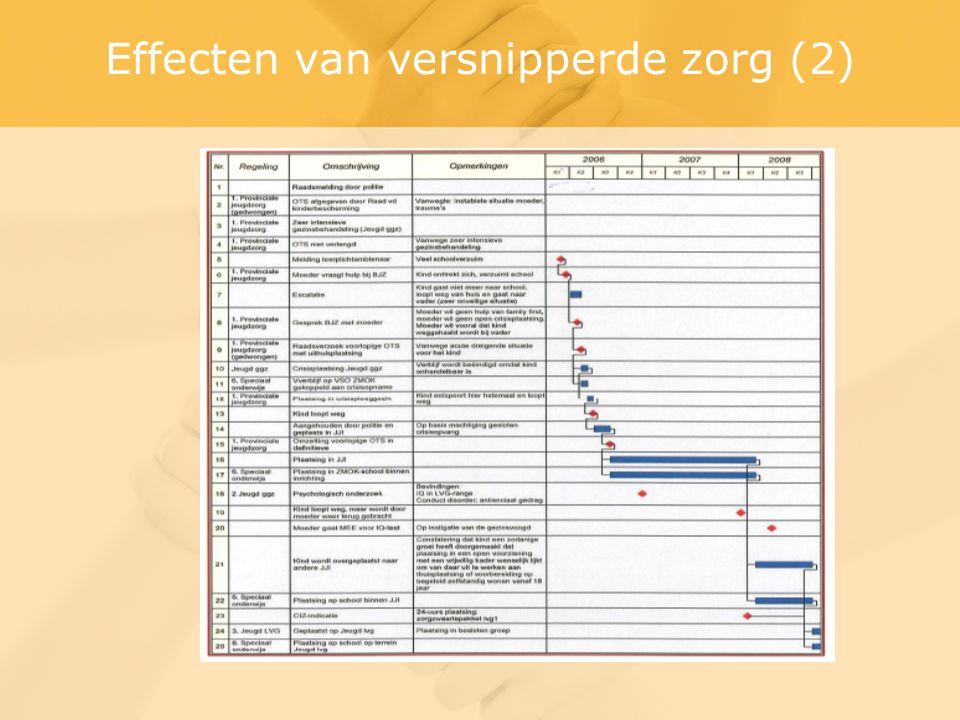 Effecten van versnipperde zorg (2)
