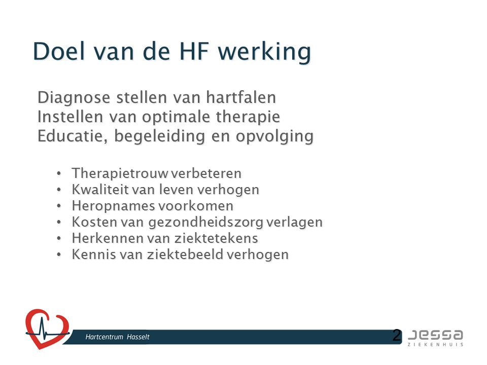 33 Transmuraal zorgpad chronisch hartfalen Wit-Gele Kruis Limburg ism Jessa Ziekenhuis Hasselt Monique Reenaers Marita Houbrechts