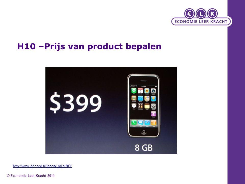 H10 –Prijs van product bepalen © Economie Leer Kracht 2011 http://www.iphoned.nl/iphone-prijs/303/