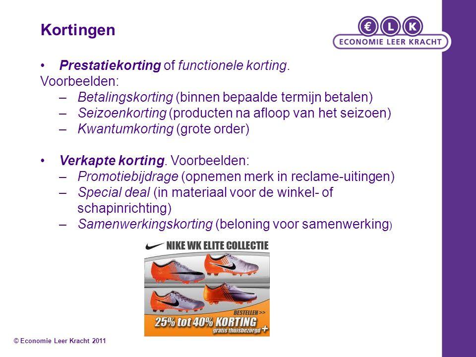 Kortingen Prestatiekorting of functionele korting.