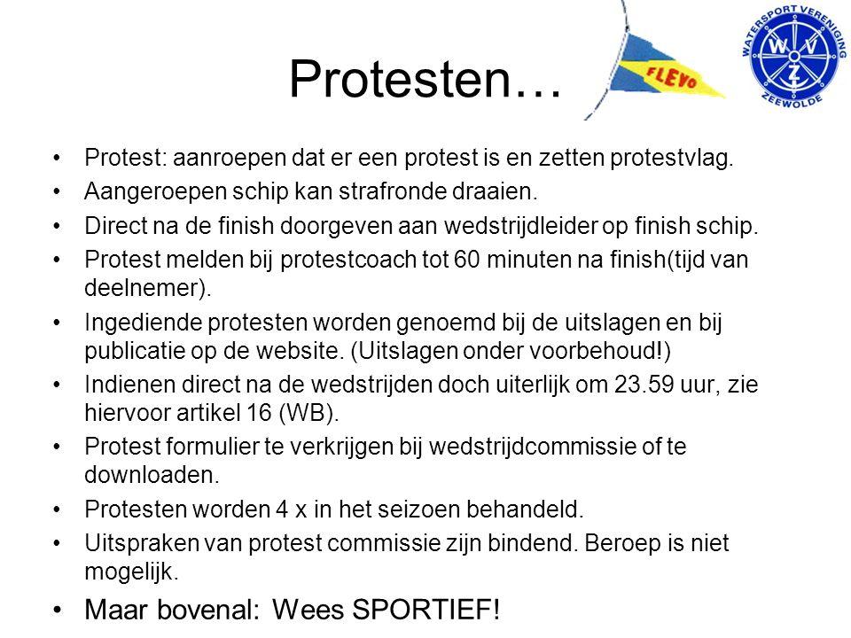 Protesten… Protest: aanroepen dat er een protest is en zetten protestvlag.