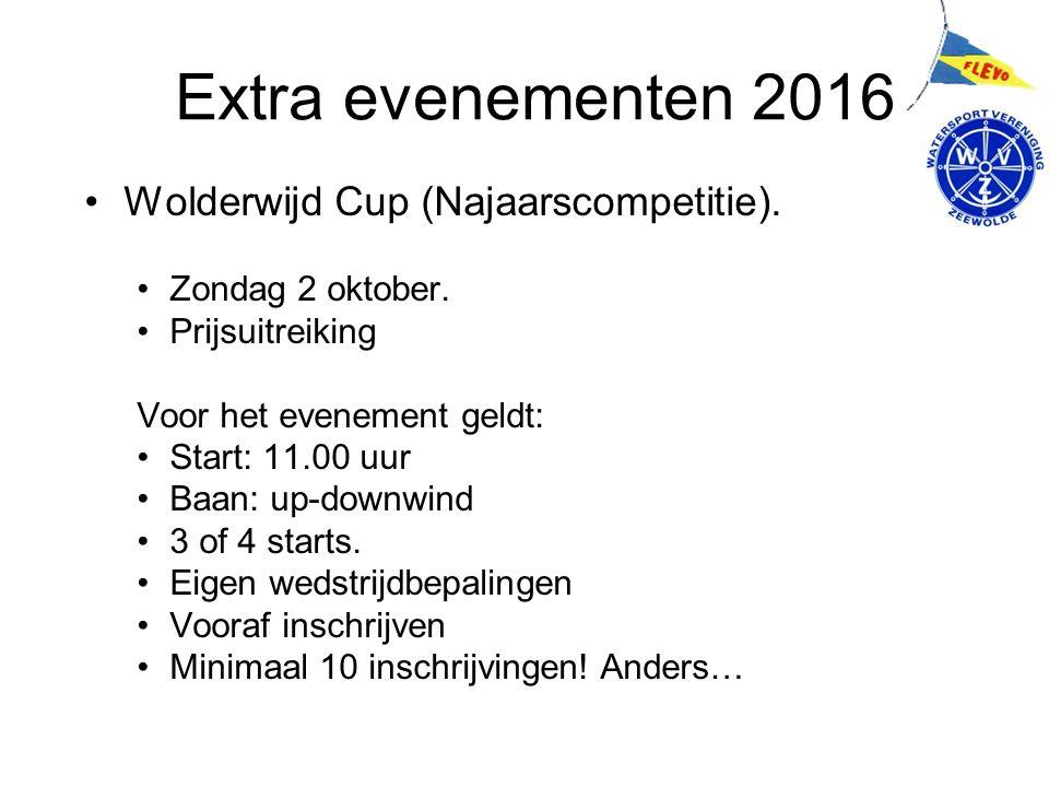 Extra evenementen 2016 Wolderwijd Cup (Najaarscompetitie).