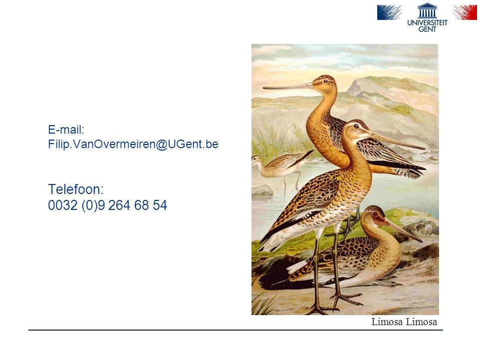 E-mail: Filip.VanOvermeiren@UGent.be Telefoon: 0032 (0)9 264 68 54 Limosa Limosa