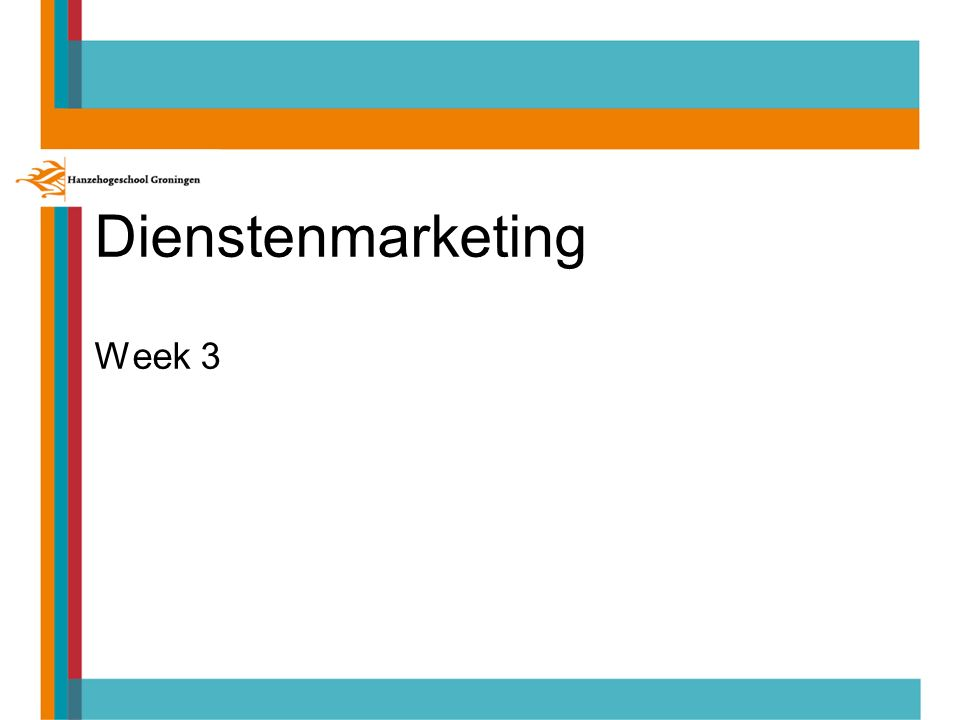 Dienstenmarketing Week 3