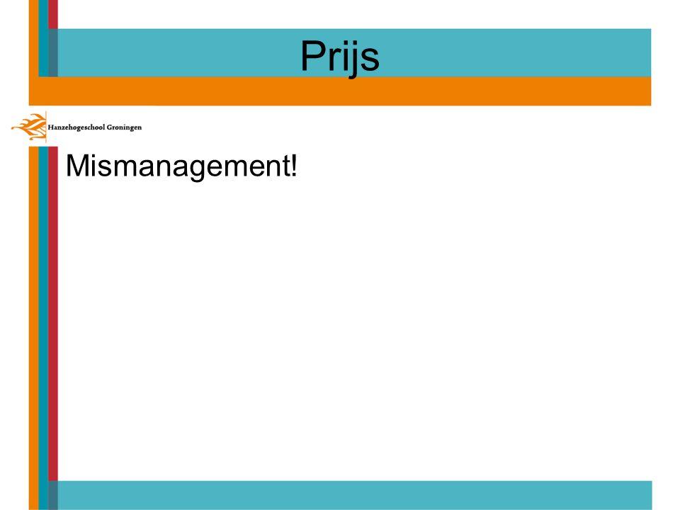 Prijs Mismanagement!