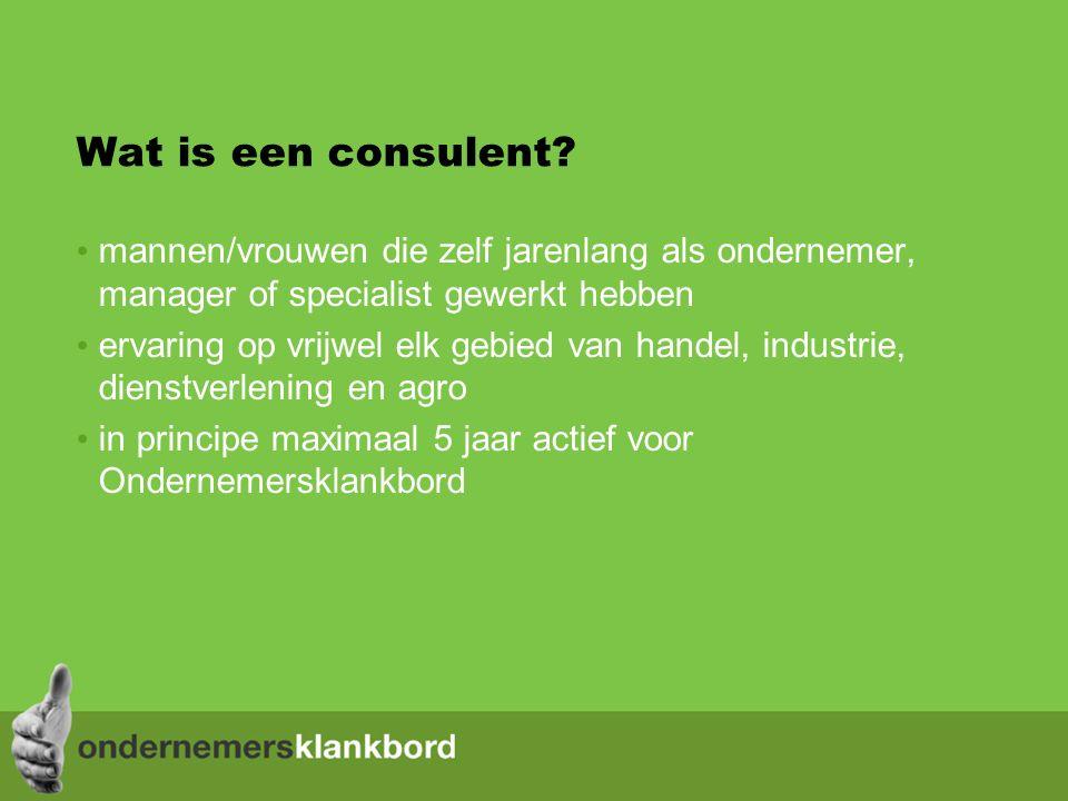 Wat is een consulent.