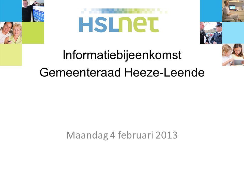 Informatiebijeenkomst Gemeenteraad Heeze-Leende Maandag 4 februari 2013