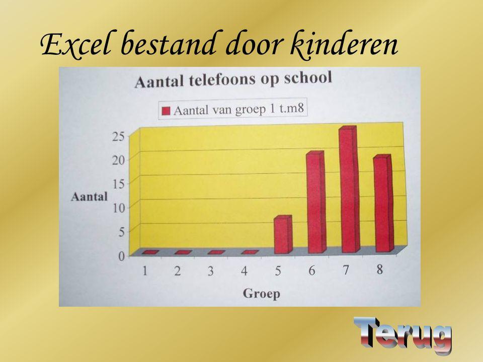 Excel bestand door kinderen