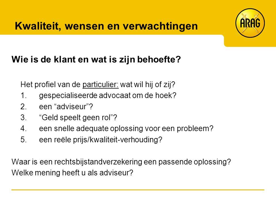 Rechtshulp en (ver)haalbaarheid Wat biedt Rechtsbijstand/ARAG.