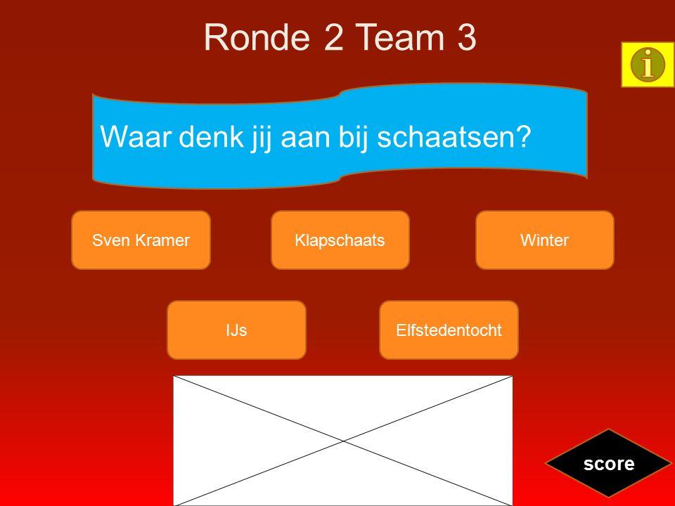 Ronde 2 Team 3 Waar denk jij aan bij schaatsen? Sven KramerKlapschaatsWinter IJsElfstedentocht score