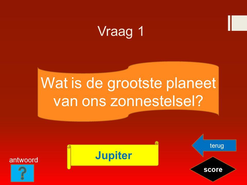 Vraag 2 Wie is de minister- president van Nederland? score Mark Rutte terug antwoord