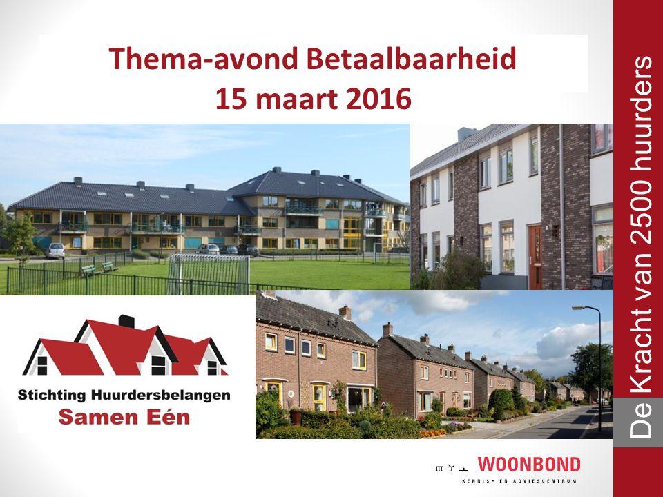 Avondvoorzitter Maarten Groen Adviseur | Woonbond Kennis- en Adviescentrum De Kracht van 2500 huurders
