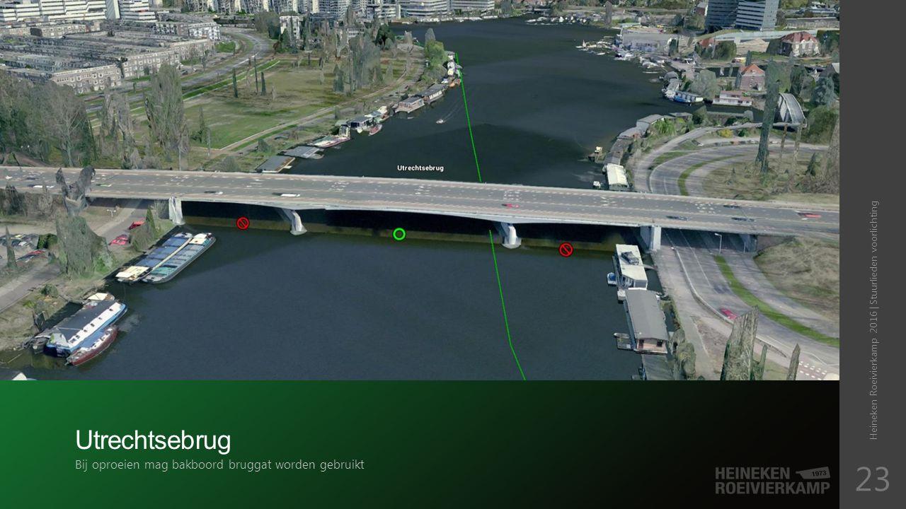 Utrechtsebrug Bij oproeien mag bakboord bruggat worden gebruikt Heineken Roeivierkamp 2016 | Stuurlieden voorlichting 23