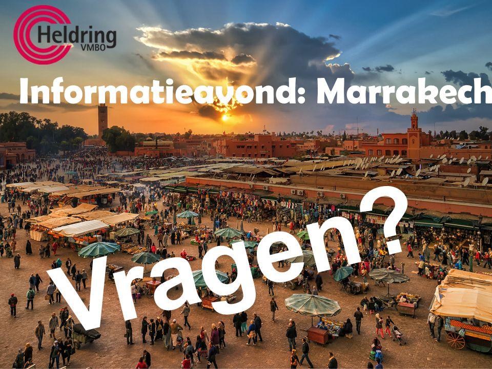 Informatieavond: Marrakech Vragen