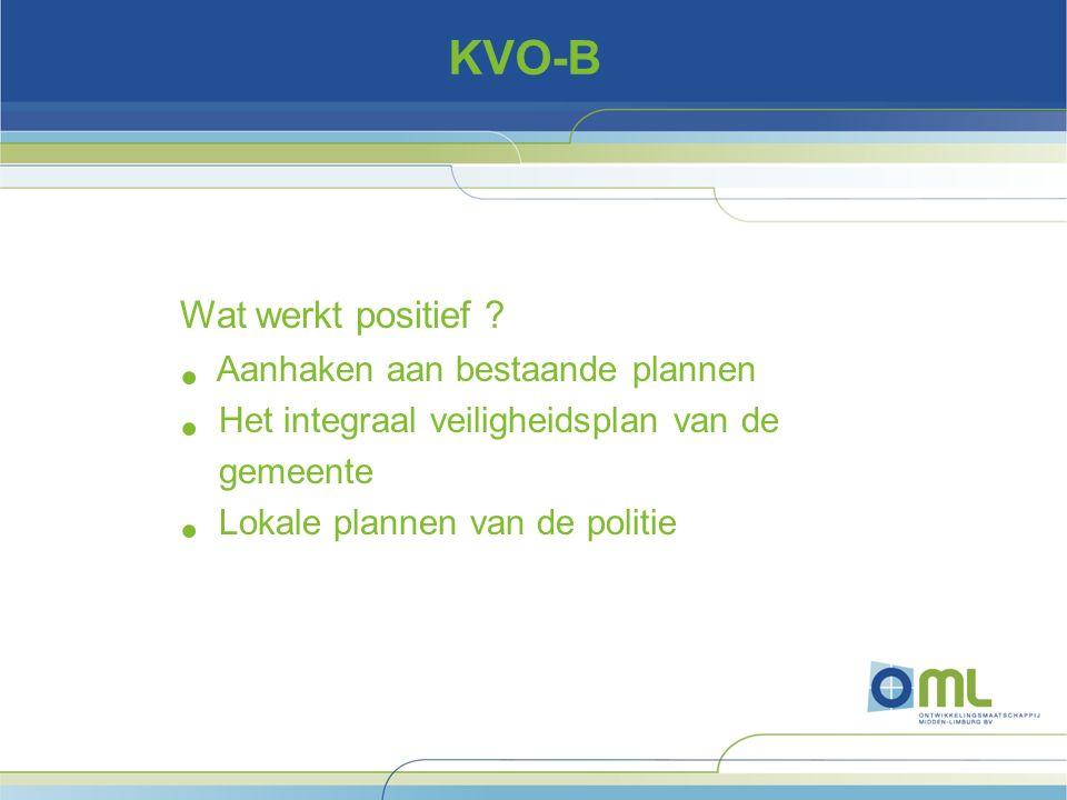 KVO-B Wat werkt positief .