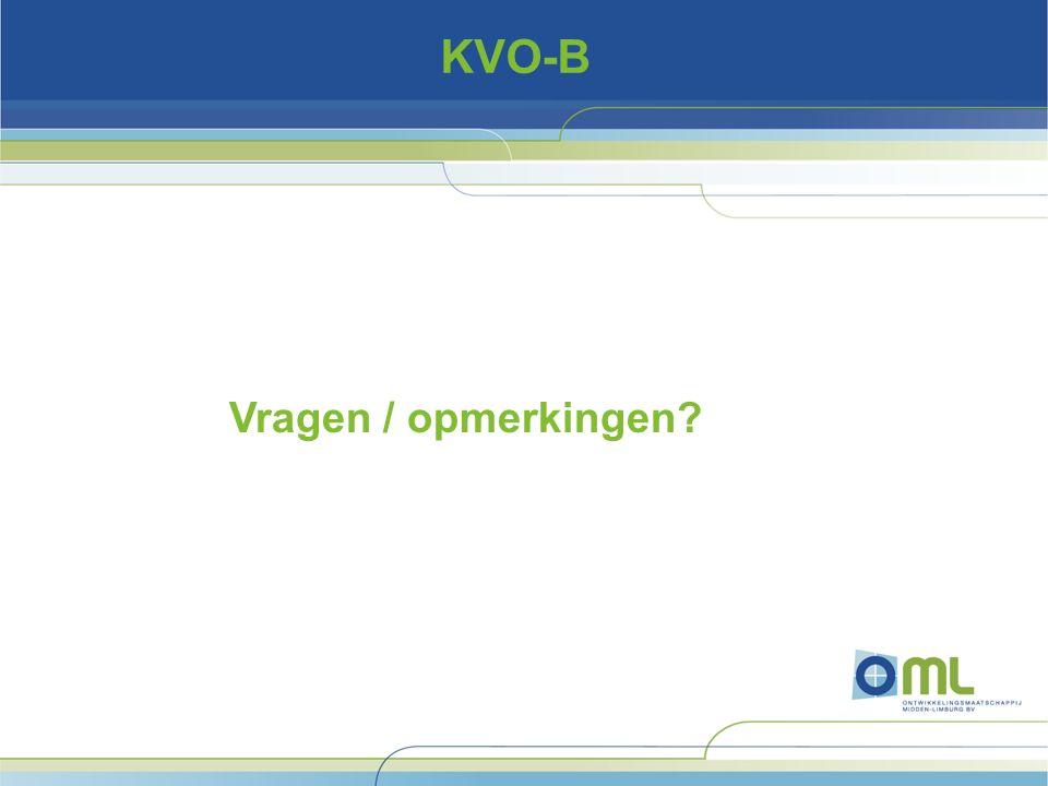 KVO-B Vragen / opmerkingen