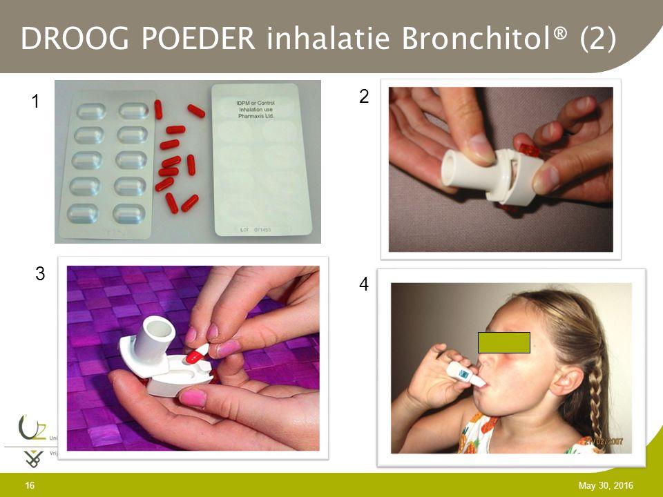 16 May 30, 2016 DROOG POEDER inhalatie Bronchitol® (2) 1 2 3 4