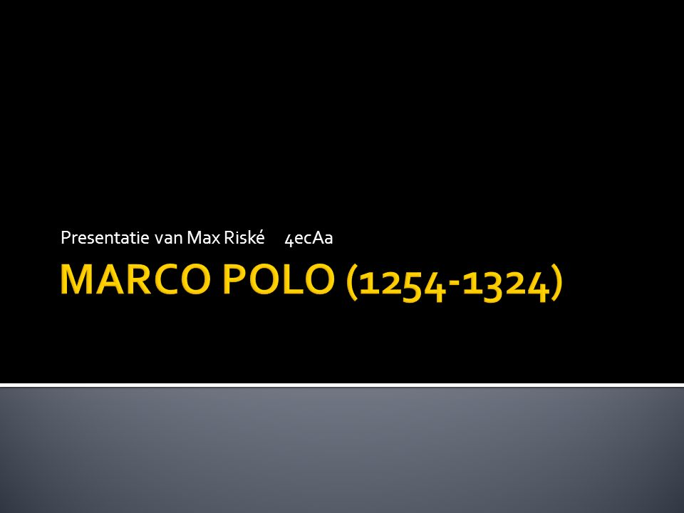  Wie was Marco Polo.