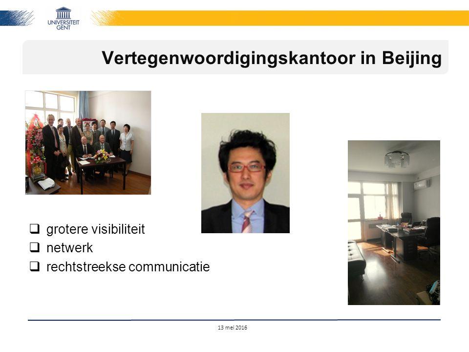  grotere visibiliteit  netwerk  rechtstreekse communicatie 13 mei 2016 Vertegenwoordigingskantoor in Beijing