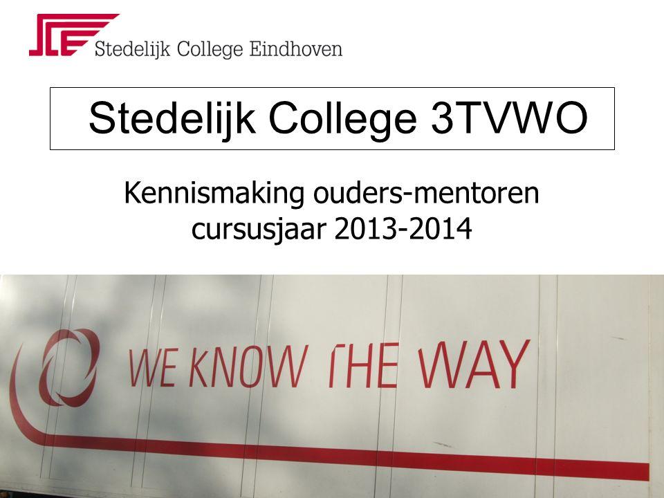 Stedelijk College 3TVWO Kennismaking ouders-mentoren cursusjaar 2013-2014